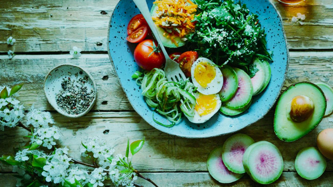 Plato con receta saludable