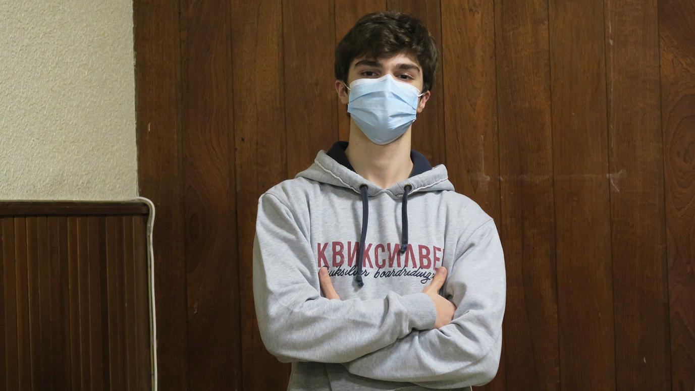 Estudiante de Medicina con mascarilla