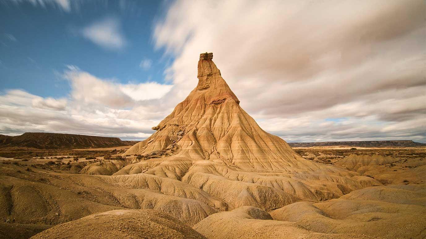 paisaje desértico en navarra