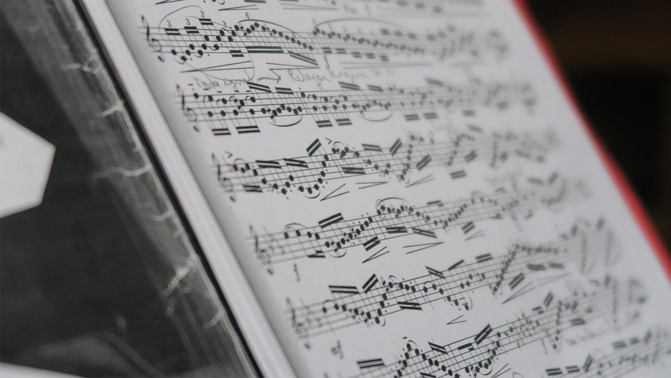 partitura de música para trompeta